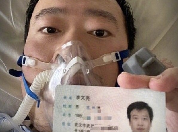 Whistleblower Dr Li Wenliang, who was also a casualty of the virus I AFP PHOTO